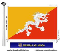 Bandera país de Bhután