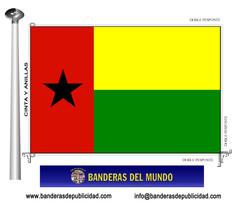 Bandera país de Guinea Bissau
