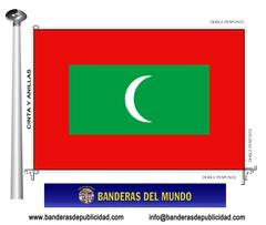 Bandera país de Islas Maldivas
