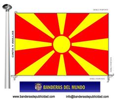 Bandera país de Macedonia