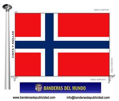 Bandera país de Noruega