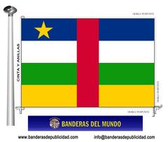 Bandera país de República Centro Africana