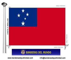 Bandera país de Samoa Occidental