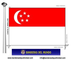 Bandera país de Singapur