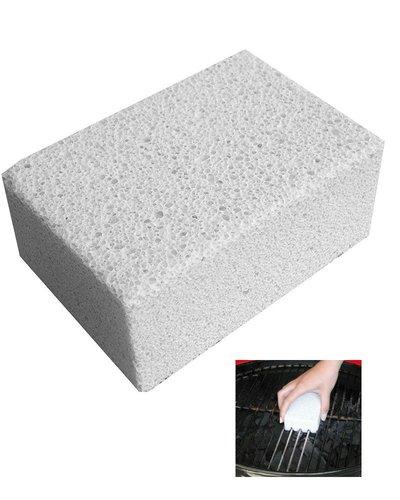 Piedra vidrio limpiar barbacoa