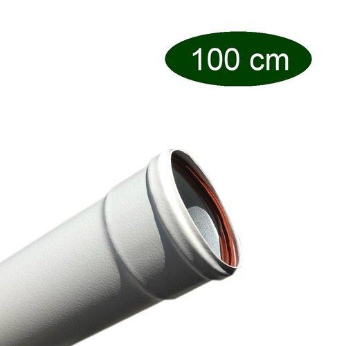 Tubo lacado pellet 80 blanco mate