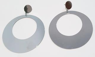Pendientes de flamenca metal plata