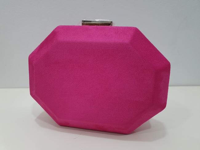 Bolso de fiesta hexagonal fucsia