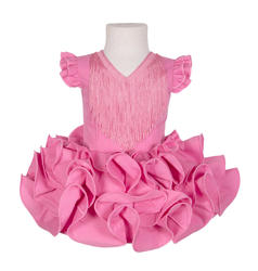 Traje de flamenca niña básico rosa