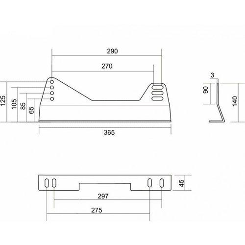 Fijación lateral de baquet Brave Acero Baja B2