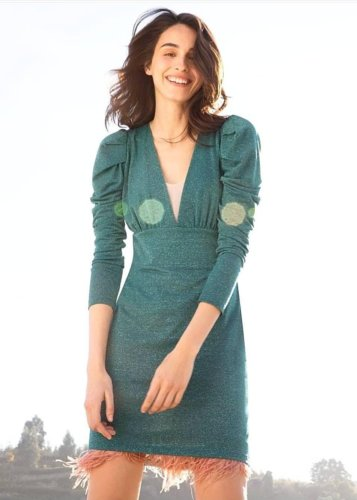 Vestido lurex verde Dixie