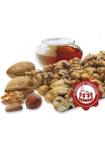 Torró de crocant amb fruits secs (fruits secs 64%). Qualitat Suprema. Pes net 400g