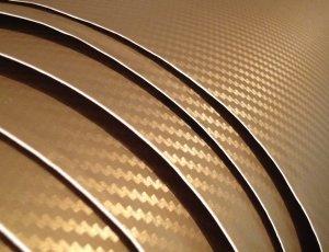 Vinilo Carbono 3D (Dorado)